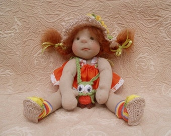 Waldorf Doll, Steiner Doll, Fabric Doll, Cloth Doll,Waldorf Toy Handmade Doll, Gift Doll, Toy Doll. Doll for girls