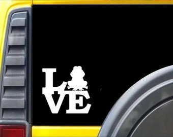 Frog Love Decal Sticker *F184*
