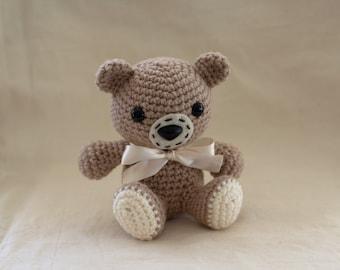 Crocheted Teddy Bear Plush Pattern