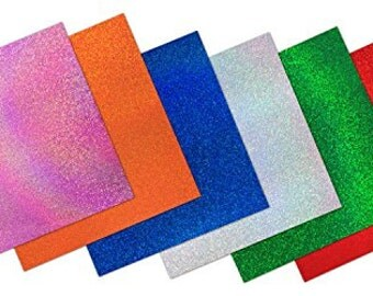 "Craftopia 12""x12"" Glitter Sparkles Self Adhesive Craft Vinyl Sheets (6 Pack)"