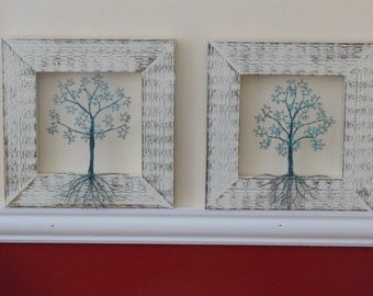 Copper Wire 3D Trees Set of 2