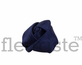 NAVY Rosette, Satin Rolled Rosette, Fabric rose, Rolled Rosette, Wholesale Flower, Fabric Flower, Wedding Flower, Flower Embellishment