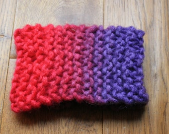 Bright, knitted, head band, ear warmer
