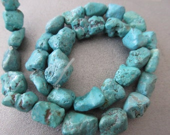 Turquoise Nuggets Beads 30pcs