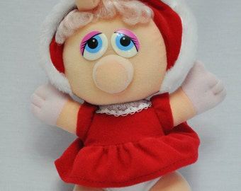 Christmas Vintage Baby Miss. Piggie 1987, Muppet Baby Collectible Plush