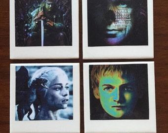 Game of Thrones Polaroid Photo Coasters