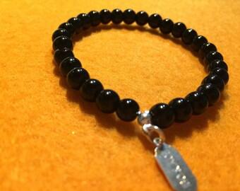 WOMEN bracelet - Tourmaline - Crystal healing 6 mm - single model