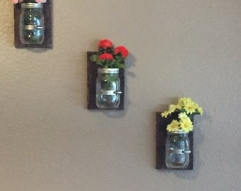 Mason jar hanging vases, set of 3