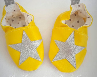 Slippers soft leatherette customizable baby star