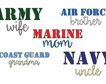 Military spouse/sibling decal