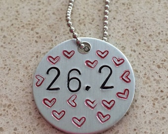 Hand stamped 26.2 Necklace