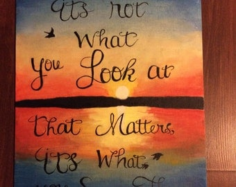Quote painting / Henry David Thoreau