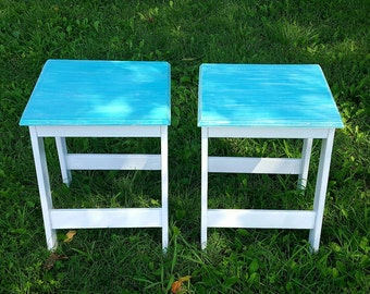 Distressed end table, End table, Accent table, Bedside tables, Rustic tables, End table sets, Price is for one table