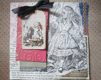 Altered Alice in Wonderland handmade cards for any occasion