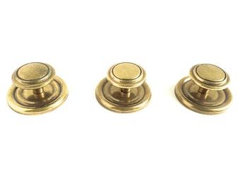 Brass Knobs - Brass Handles Lot - Small Brass Knobs Set of 3 - Brass Cabinet Knob - Brass Pulls - Gold Knobs - Gold Handles - Door Knobs