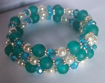 Sea Glass memory bracelet