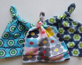 Knot Beanies, Beanies, Baby Beanies, Toddler Beanies, Knit Beanies, Baby Hat, Knot Hat, Flowers, Girls, Girl Hats,