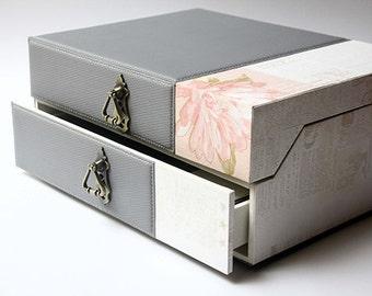 Box Wedding album Gray Handmade custom, Photo album, Scrapbook album, Photo book, Wedding album, Scrapbook pages,  Memory album,