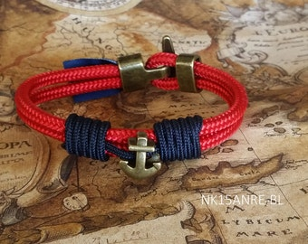 Bracelet for man of anchor-Anchor bracelet-Nautical bracelet-bracelets nautical
