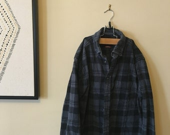 Grey and black flannel
