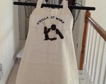 Embroiderd G'RILLA  at WORK
