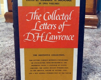 D.H. Lawrence, The Collected Letters of D.H. Lawrence, 1st Edition, Two-Volume Hardcover Set in Slipcase (1962)