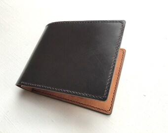 Bridle bifold wallet, mens wallet, mens bridle wallet, english bridle, father present, parents day gift, bridle billfold wallet, halfwallet