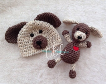 Made to Order, Baby Crochet Puppy Dog Hat