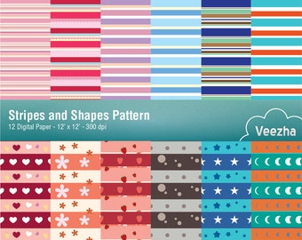 Stripes and Shapes pattern