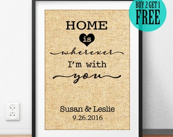 Anniversary Gift, Wedding Gift, Valentine Gift, Housewarming Gift, Edward Sharpe Lyrics, Personalized Gift, Gift for Parents, Wall Art, CM09