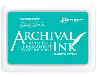 Ranger Archival Ink Garden Patina - Teal Ink - Archive Ink - Green Archive Ink - Ranger Garden Ink - Permanent Teal Ink - Waterproof Ink