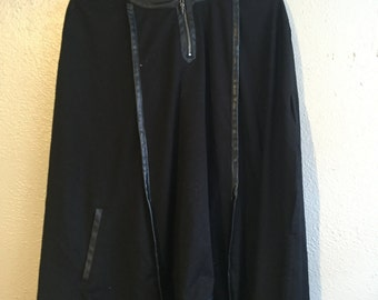 Black gothic poncho with hood.