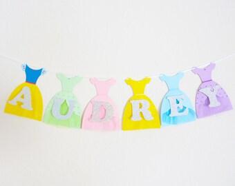 Customizable Disney Princess Banner, Birthday Banner