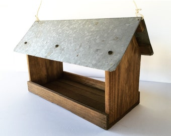 Handmade Tin-Roof Birdhouse
