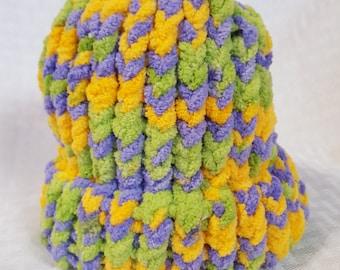 Cozy Knit Newborn Hat, Springtime Twist