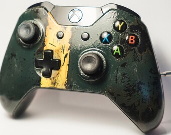 Dieslepunk Steampunk Fallout 4 Custom Painted Xbox One Controller