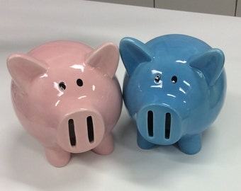 Pink or blue piggy banks