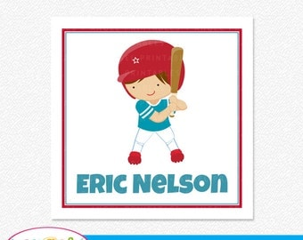 Personalized Printable Gift Enclosure Cards, Baseball