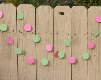 10 FEET CIRCLES GARLAND/ any color