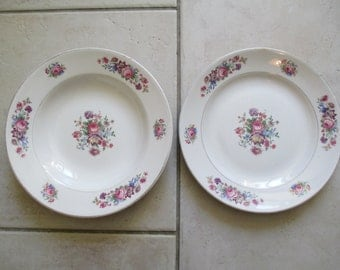 Ceramic plates of Digoin Sarreguemines model GUY