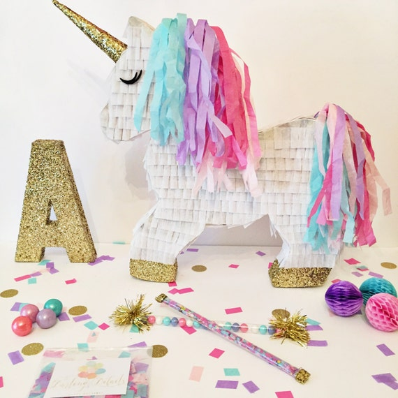 Personalised Unicorn Party Piñata By Postbox Party – Name