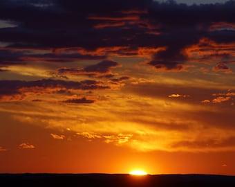 Sunset over Jordan River