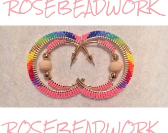 Beaded Double Hoops.