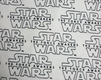 SALE! Star Wars Flannel Fabric, Force Awakens, Quilting Fabric, Pajamas, PJs, Yardage, FBTY