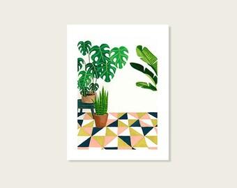 Patio - Art print - 6 X 8'' - 15 X 20 cm