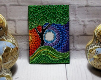 "ORIGINAL Painting ""Day and Night""  the picture will bring into your home a lot of happiness, love, prosperity"
