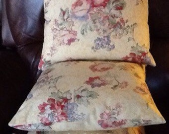 "Yellow/floral 18"" decorator pillow cover"