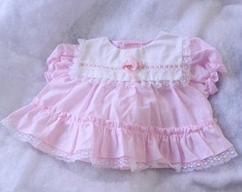 Pink ruffle dress, 0-6 month