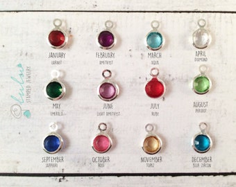 Swarovski Birthstone 6mm silver Plated Add-on - Personalized your Necklace