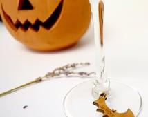 Halloween Wine Glass Charms Set of 5 - Personalised Halloween Glass Charm - Halloween - Place Name Settings - Halloween - Wine Glass Charms
